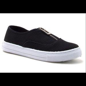 NEW Black slip on sneakers